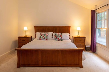 Vineyard Haven Martha's Vineyard vacation rental - Master Suite Has King Sleigh Bed and Vaulted Ceilings