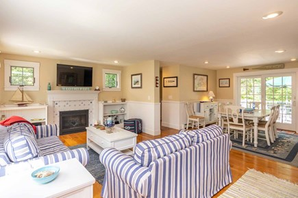 Vineyard Haven Martha's Vineyard vacation rental - Living Room Looking Toward Dining Room