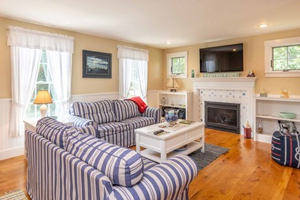 Vineyard Haven Martha's Vineyard vacation rental - Open Living Area Has Large Screen TV and Fireplace