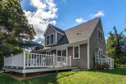 Vineyard Haven Martha's Vineyard vacation rental - Back Exterior Has Large Deck