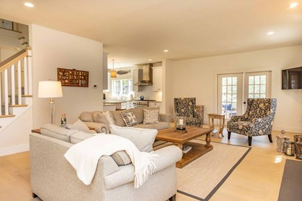 West Tisbury Martha's Vineyard vacation rental - Living Room Has French Doors To Screened Porch