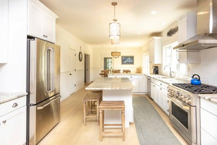 West Tisbury Martha's Vineyard vacation rental - Large Open Chef Kitchen Features  Center Prep island