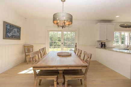 West Tisbury Martha's Vineyard vacation rental - Open Dining Room Has Seating for 8