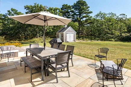West Tisbury Martha's Vineyard vacation rental - Patio is Set Up for Dining, Lounging and Entertaining