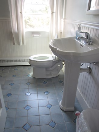 Edgartown Martha's Vineyard vacation rental - Second floor bathroom with shower.