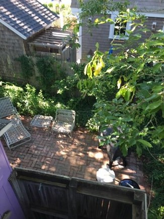 Oak Bluffs Martha's Vineyard vacation rental - The back patio is ideal for grilling/eating and outdoor showering