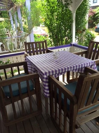Oak Bluffs Martha's Vineyard vacation rental - Meals are magical on the front porch!