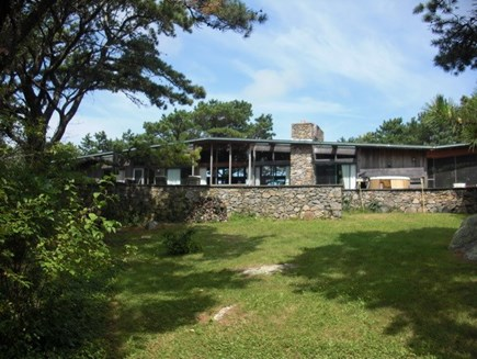 Chilmark Martha's Vineyard vacation rental - Celeb Owned Mid Century Hilltop Home with Hot Tub on Terrace