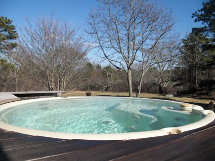 Chilmark Martha's Vineyard vacation rental - Hot Tub on the Terrace adjacent to Master Suite on