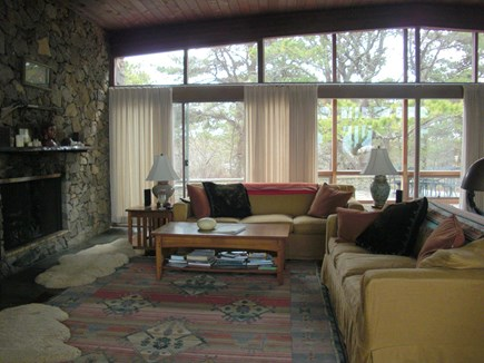Chilmark Martha's Vineyard vacation rental - Fireplace in Great Room