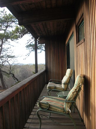 Chilmark Martha's Vineyard vacation rental - Sunset Porch on the West End of the House adjoins Bedroom 2 and 3