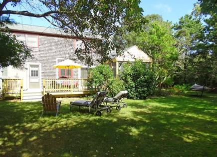 West Tisbury Martha's Vineyard vacation rental - Lush back yard with room to play