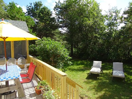 West Tisbury Martha's Vineyard vacation rental - Sunny back deck with grill and outdoor shower