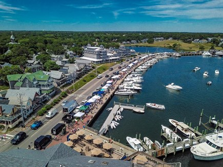 Oak Bluffs Martha's Vineyard vacation rental - Cottage is first house on the left (Harbor Fest photo)
