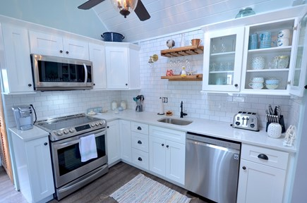 Oak Bluffs Martha's Vineyard vacation rental - New kitchen with microwave & dishwaher