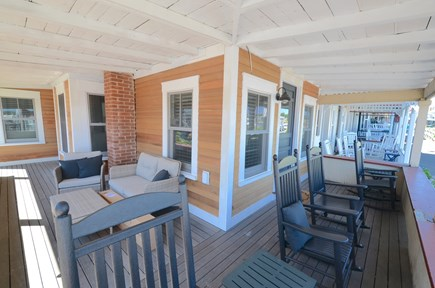 Oak Bluffs Martha's Vineyard vacation rental - Spacious porch overlooking the Harbor