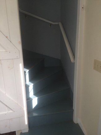 Chilmark Martha's Vineyard vacation rental - Stairs, leading from the Living room to up-stair bedrooms.