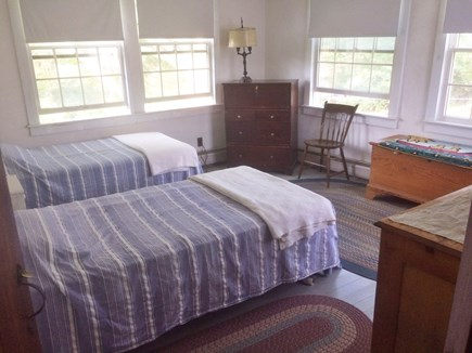 Chilmark Martha's Vineyard vacation rental - Bedroom 2, downstairs.  All linen included.