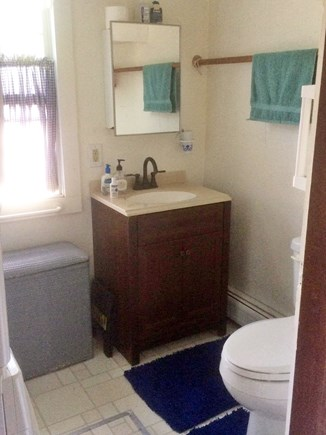 Chilmark Martha's Vineyard vacation rental - Bathroom 1, with washer and dryer. Towels  included.