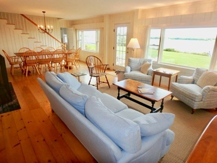 Katama - Edgartown, Edgartown Martha's Vineyard vacation rental - Large open living area with water views