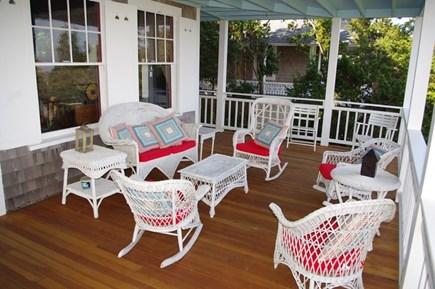 Oak Bluffs Martha's Vineyard vacation rental - Get togethers on the porch