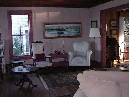 Oak Bluffs Martha's Vineyard vacation rental - Victorian Living room with natural wood