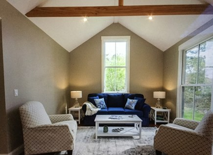 Katama - Edgartown Martha's Vineyard vacation rental - Spacious living area in great room with floor to ceiling windows