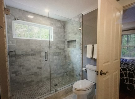 Katama - Edgartown Martha's Vineyard vacation rental - First floor master bathroom - marble shower
