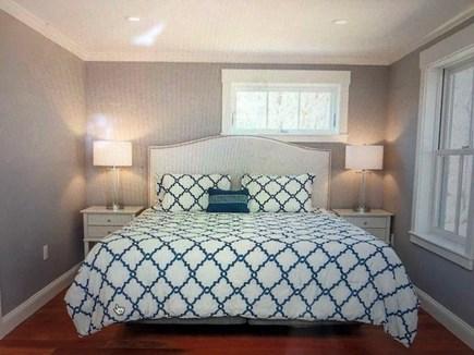 Katama - Edgartown Martha's Vineyard vacation rental - First floor master bathroom with king bed.