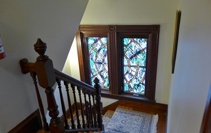 Oak Bluffs Martha's Vineyard vacation rental - Lovely Stained Glass Window/wGrapes representing the Vineyard