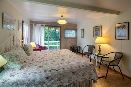 Aquinnah Martha's Vineyard vacation rental - Large master bedroom with king bed and desk. Opens to side deck