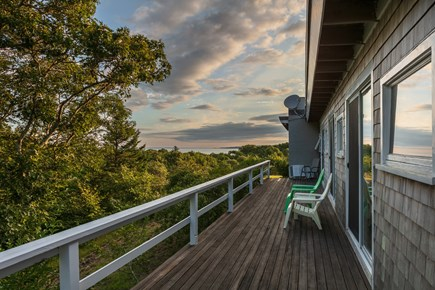 Aquinnah Martha's Vineyard vacation rental - Side deck with afternoon sun and views