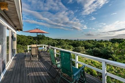 Aquinnah Martha's Vineyard vacation rental - Front deck looks out on Vineyard Sound