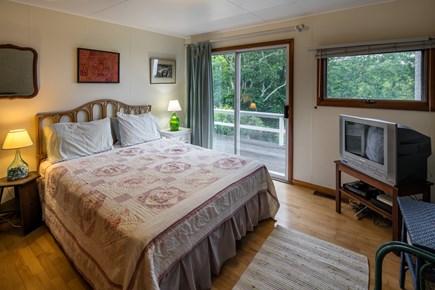 Aquinnah Martha's Vineyard vacation rental - Queen bedroom opens to side deck