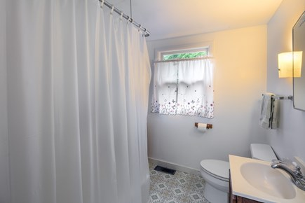 Aquinnah Martha's Vineyard vacation rental - Bath with tub and shower
