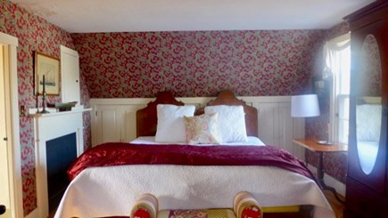 West Tisbury Martha's Vineyard vacation rental - Master bedroom inspires the imagination.