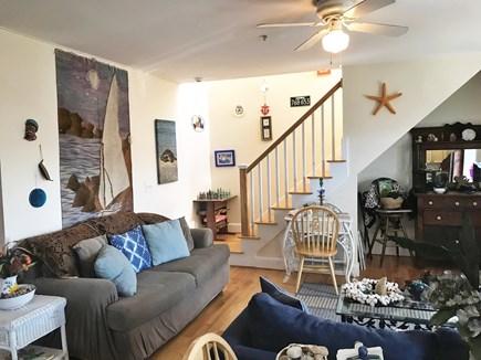 Oak bluffs Martha's Vineyard vacation rental - Stairway up to upper deck for outdoor balcony