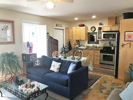 Oak bluffs Martha's Vineyard vacation rental - Open living room and kitchen