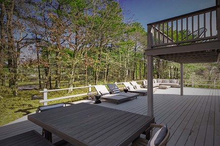 Oak Bluffs, Waterview Farms Martha's Vineyard vacation rental - Expansive 900 square foot deck with room to lounge and dine