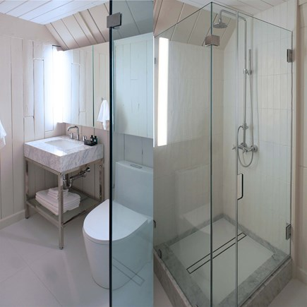 Oak Bluffs, Waterview Farms Martha's Vineyard vacation rental - Second floor bath with step in rain shower.