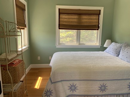 Aquinnah Martha's Vineyard vacation rental - Beautiful bedroom in soft sage, with lovely blinds