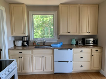 Aquinnah Martha's Vineyard vacation rental - Kitchen boasts granite counters, Fisher Paykel double drawer DW.