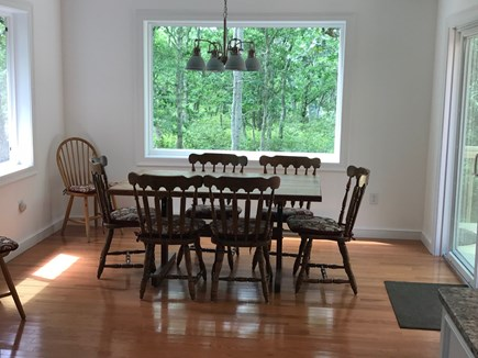 West Tisbury Martha's Vineyard vacation rental - Dining Room, seating for 8.  Sliding door leads to deck.