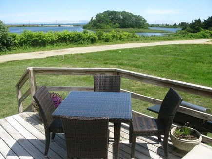 Oak Bluffs Martha's Vineyard vacation rental - Side Deck w/view of Farm Pond