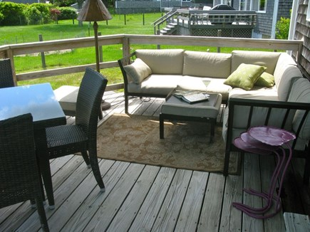 Oak Bluffs Martha's Vineyard vacation rental - Side Deck w/view of lawn