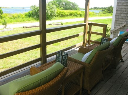 Oak Bluffs Martha's Vineyard vacation rental - Front Porch with Farm Pond View