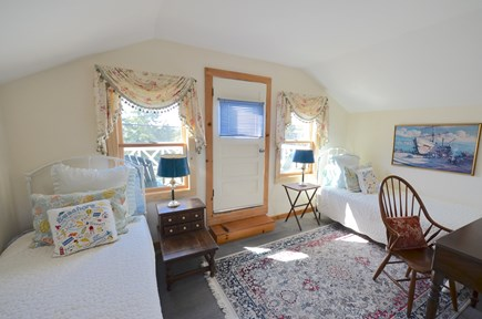 Oak Bluffs Martha's Vineyard vacation rental - Guest House 2nd floor bedroom with balcony and water views