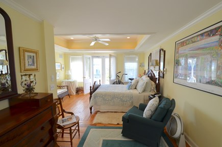 Oak Bluffs Martha's Vineyard vacation rental - Master bedroom with balcony and sitting area on second floor