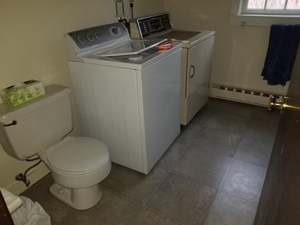 Edgartown Martha's Vineyard vacation rental - Downstairs bath with shower and washer/dryer