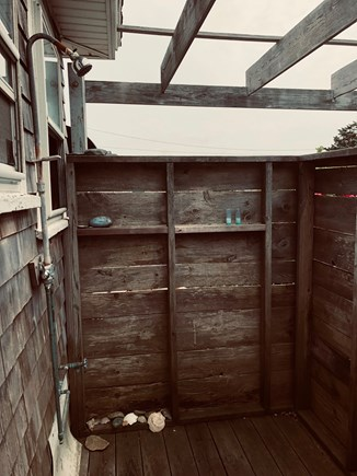 Oak Bluffs Martha's Vineyard vacation rental - Outdoor shower (enclosed on 4 sides)